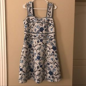 🎉NWOT Gorgeous Blue and White AnthropologieDress